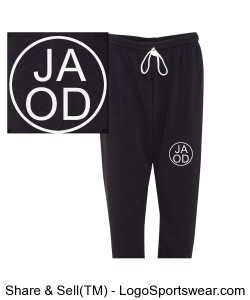 Unisex Black Joggers - Adult Sizes Design Zoom
