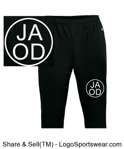 Youth Trainer Pant Black - Youth Sizes Design Zoom