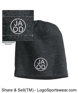 Embroidered District Slouch Beanie Design Zoom